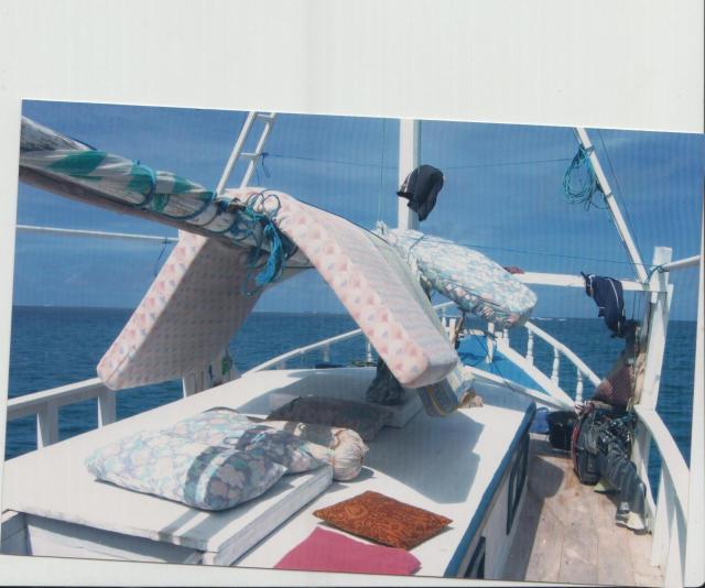 bedding on deck