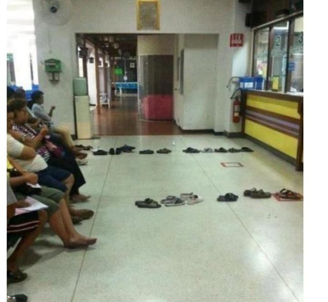wait in line